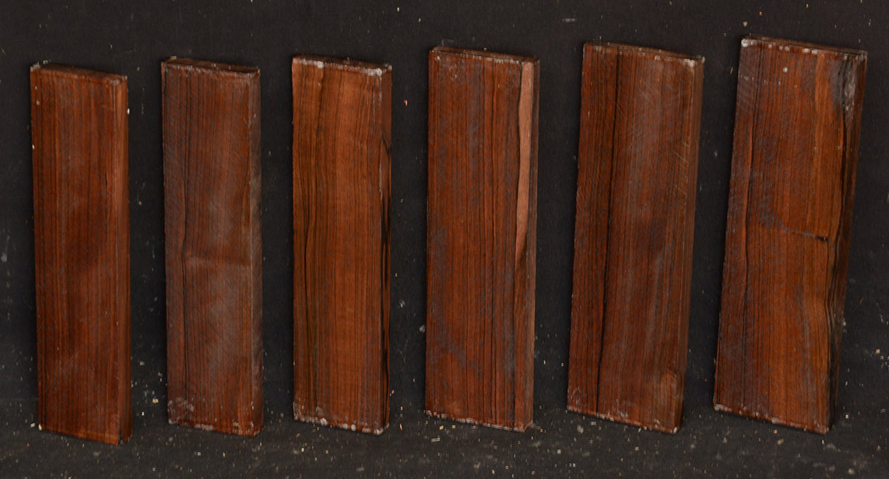 """boards lumber 1//8 or 1//4 surface 4 sides 12/"""" Ziricote"""